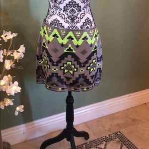 Neon mini skirt